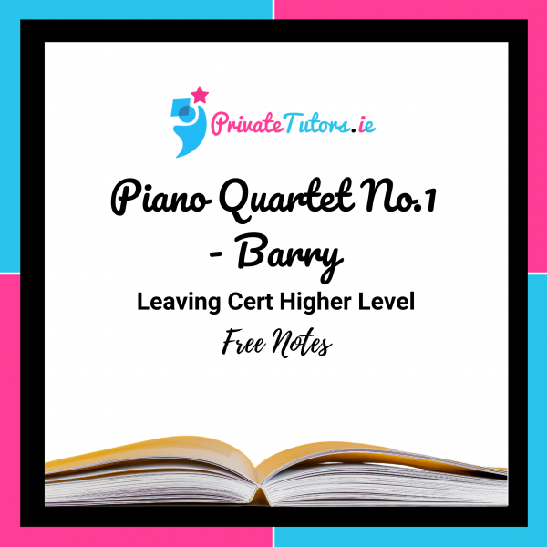 Piano Quartet No.1 Barry